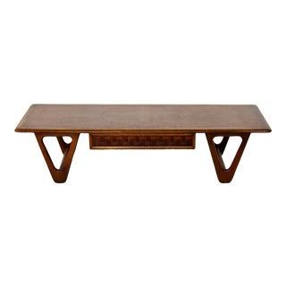 Mid Century Modern Lane Altavista Sculpted Base Perception Coffee Table 1960s For Sale
