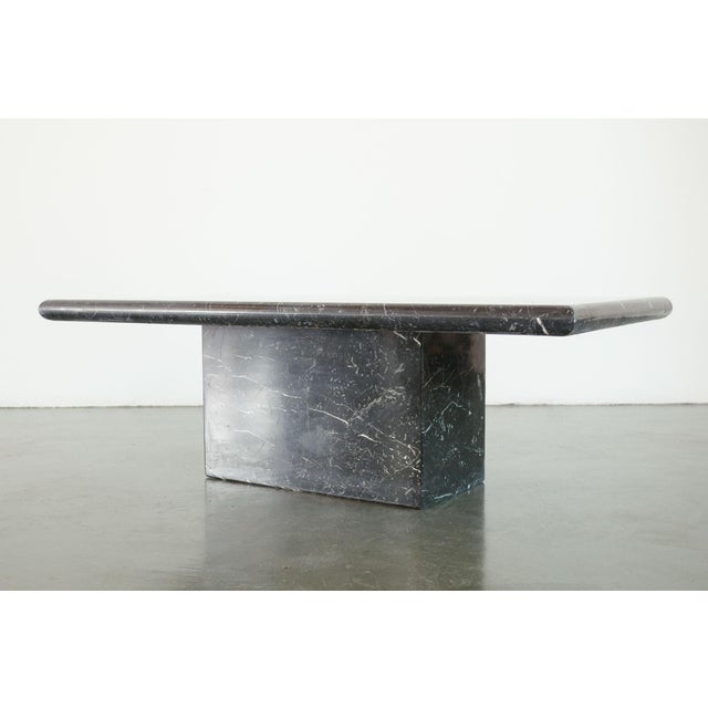 Stone 20th Century Art Deco Black Marble Coffee Table For Sale - Image 7 of 8