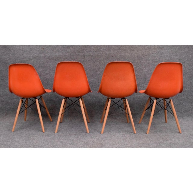 Vintage Fiberglass Charles Eames for Herman Miller Chairs - Set of 4 For Sale In San Diego - Image 6 of 10