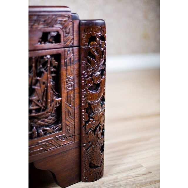 Chinese Carved Chest from the 1930s For Sale - Image 6 of 10