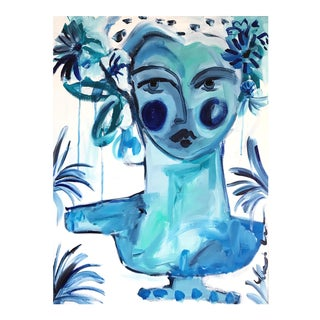 """""""Blue Lady Bust"""" Painting"""