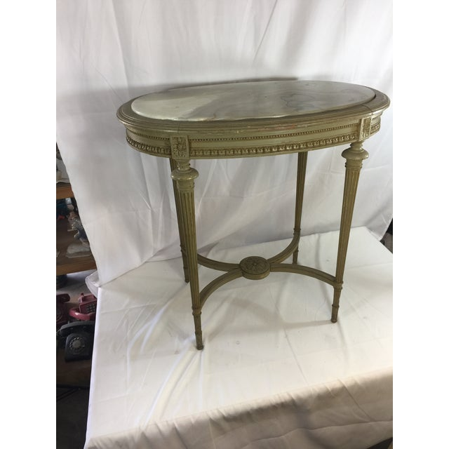 Louis XVI Onyx Top Occasional Table - Image 4 of 4