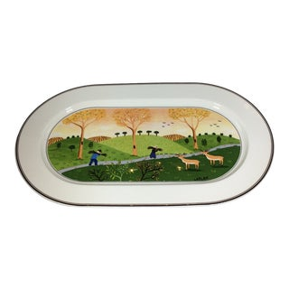 1980s Villeroy & Boch Naïf Gathering Twigs Platter For Sale