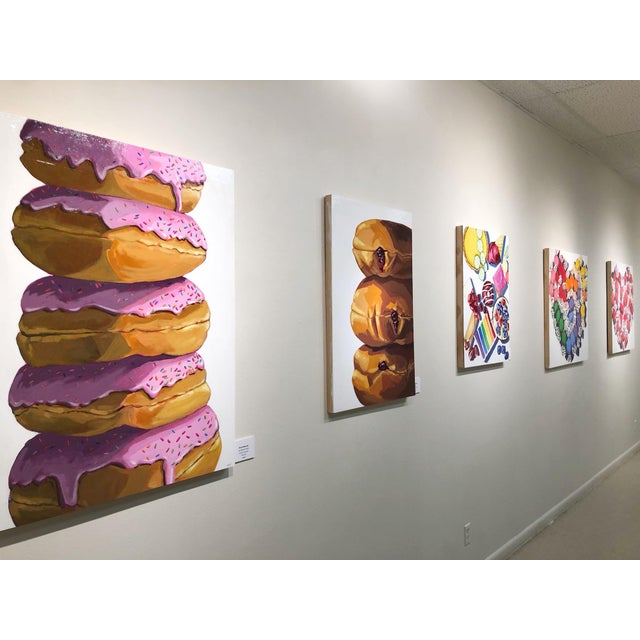 Strawberry Donuts by Nicole Newsted For Sale - Image 4 of 7