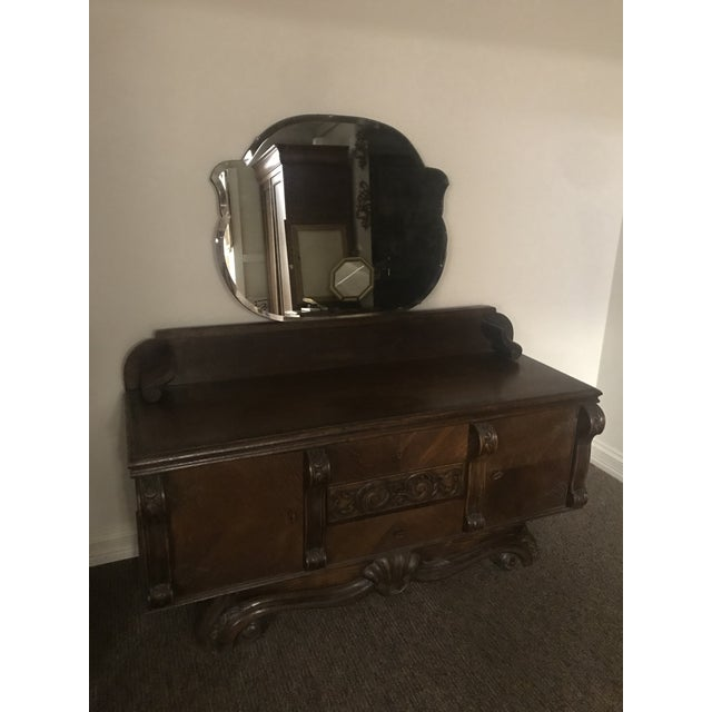 1920s Vintage Belgian Vanity and Stool For Sale - Image 4 of 7