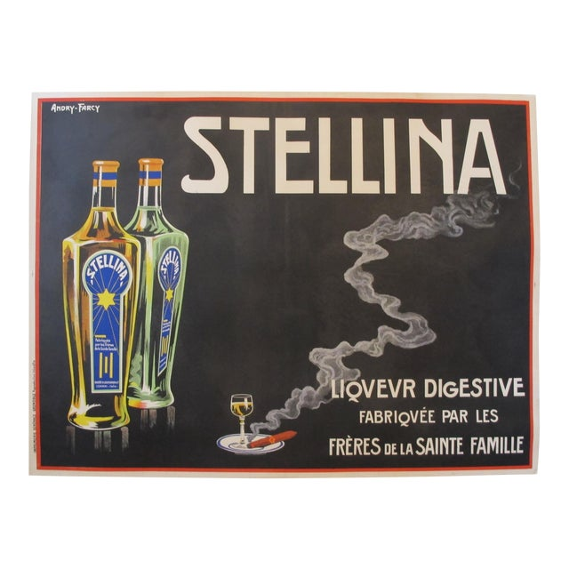1930s Original French Advertisement Poster - Alcohol Poster - Stellina For Sale