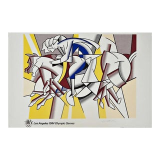"""The Red Horseman"" Artist Signed ""The Equestrians"" for the 1984 Los Angeles Olympia Games by Roy Lichtenstein For Sale"