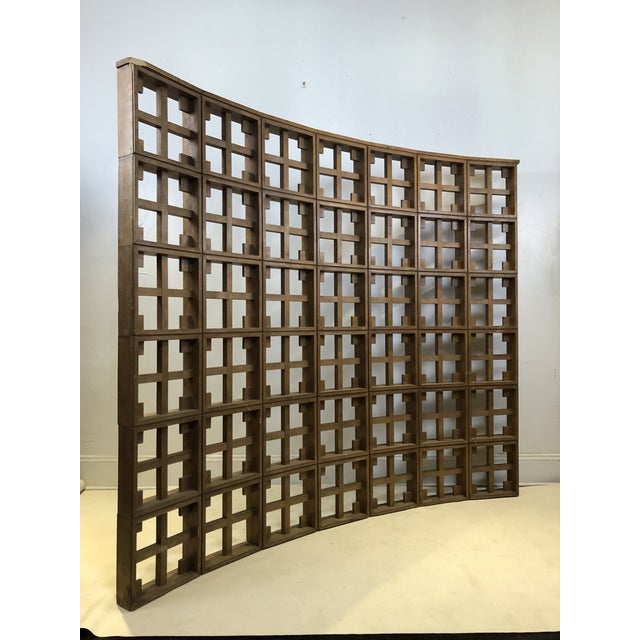 1960s Mid Century Modern Solid Wood Room Divider / Screen For Sale In San Antonio - Image 6 of 13