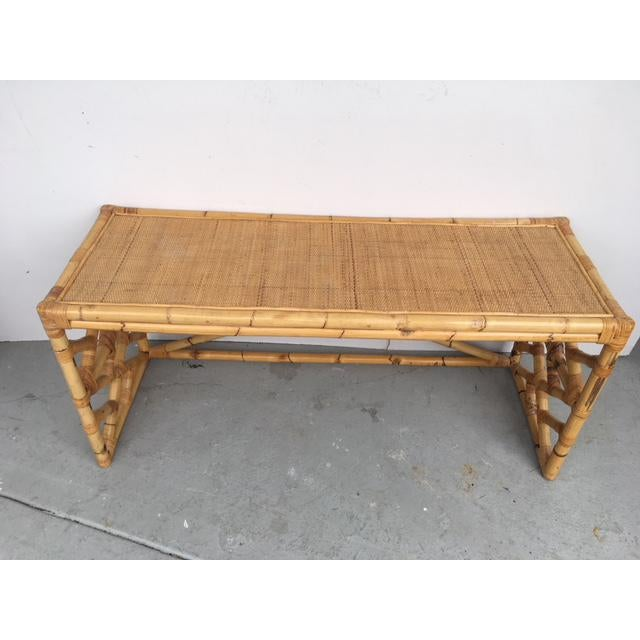Tropical Chic Bamboo & Rattan Console - Image 5 of 8
