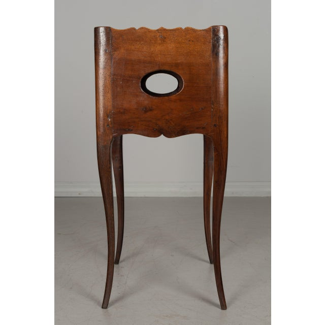 Wood 1930s French Louis XV Style Walnut Side Table For Sale - Image 7 of 9