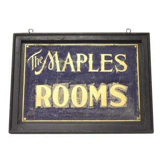 1900's Vintage Double Sided Tin Sign For Sale