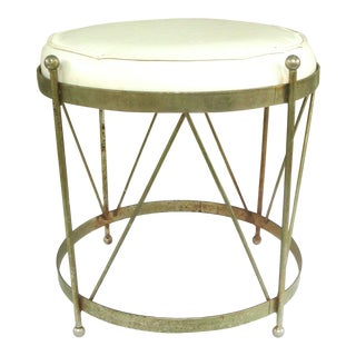 Midcentury Chrome Tabouret Vanity Stool For Sale