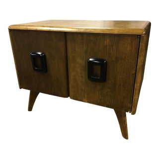 Heywood Wakefield Mid Century Modern Record Cabinet For Sale