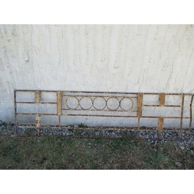 Antique Victorian Iron Gate Window Garden Fence Architectural Salvage Door #086 For Sale In Philadelphia - Image 6 of 6