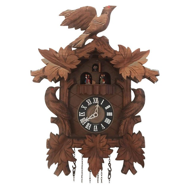 1950s Vintage German Cuckcoo Wall Clock For Sale - Image 5 of 5