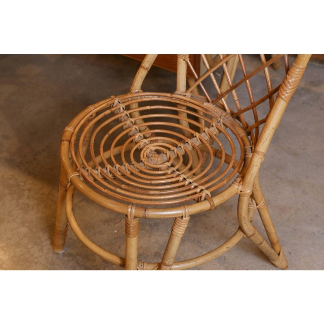 Bamboo Desk and Chair For Sale - Image 10 of 11
