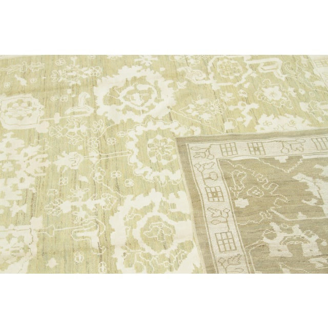 Textile Contemporary Persian Oushak Rug - 10′ × 13′9″ For Sale - Image 7 of 12