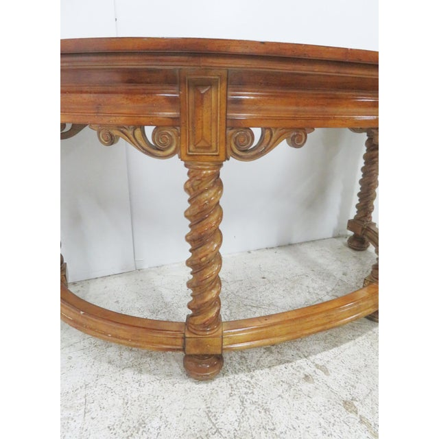 Italian Style Faux Painted Demilune Desk For Sale - Image 4 of 10