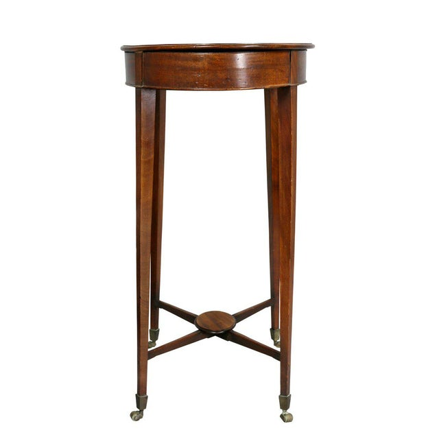 Mahogany George III Mahogany Work or End Table For Sale - Image 7 of 9