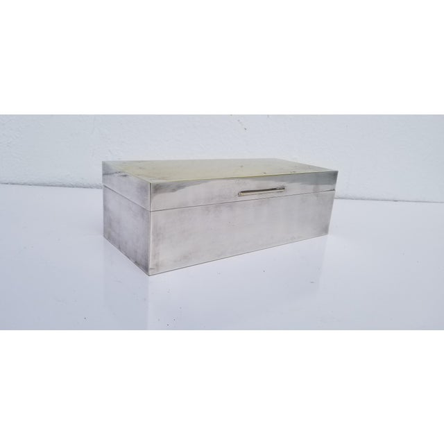 Vintage Mid-Century Silver Plate Decorative Box For Sale - Image 11 of 11