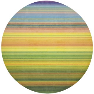 "Nicolette Mayer Gradient Yellows 16"" Round Pebble Placemats, Set of 4 For Sale"