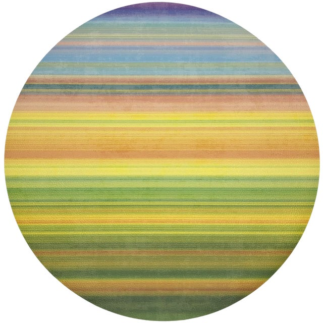 """Nicolette Mayer Gradient Yellows 16"""" Round Pebble Placemats, Set of 4 For Sale"""