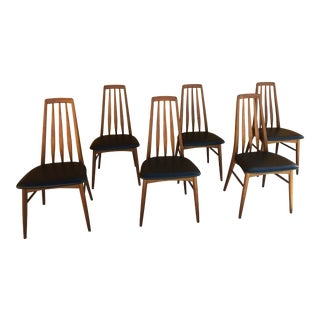 """Mid-Century Niels Koefoed Hornslet """"Ava"""" Chairs - Set of 6 For Sale"""
