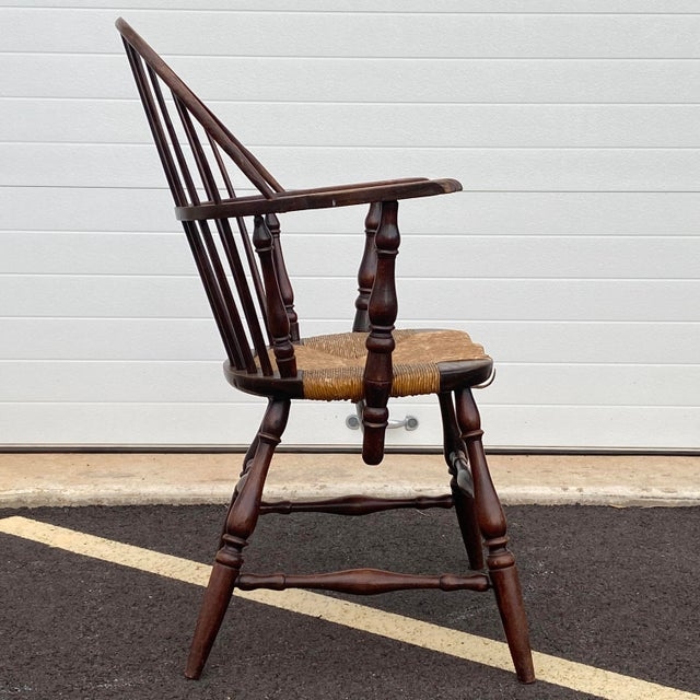 American Antique Sack Back Windsor Chair For Sale - Image 3 of 13