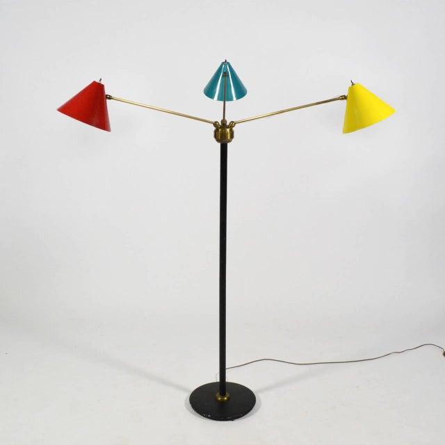 Italian Three-Arm Floor Lamp For Sale - Image 4 of 11