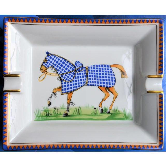1970s Hermes Porcelain Equestrian Ashtray For Sale - Image 10 of 10