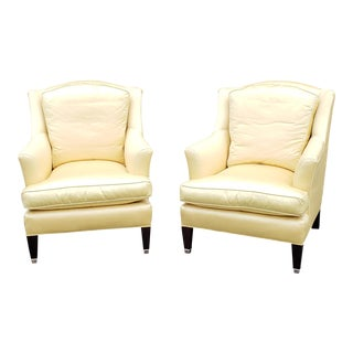 Very Clean Pair Dapha for Barbara Barry ~ Baker Furniture Upholstered Club Armchairs C1990 For Sale