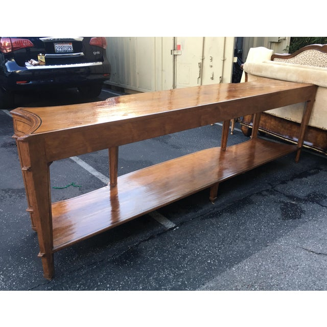 Spectacular Huge Georgian Style Walnut Console or Sofa Table For Sale - Image 4 of 5