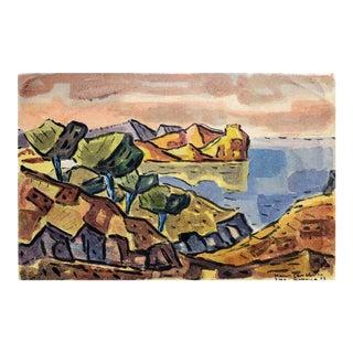 Coast of Majorca, 1953 by Hans Gassebner