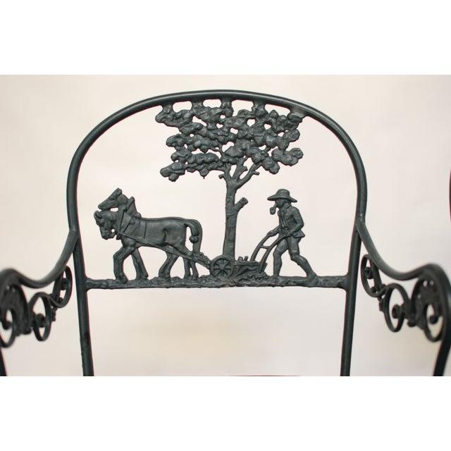 Vintage Cast Aluminum Garden Chairs - Image 6 of 6