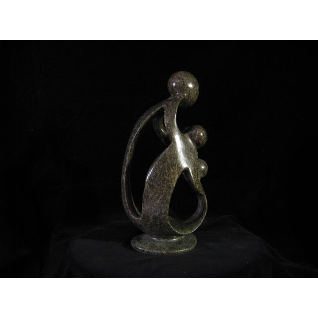 Contemporary Contemporary Shona Soapstone Sculpture For Sale - Image 3 of 7