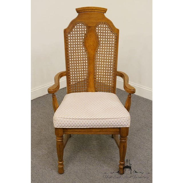 Henry Link Dixie Contemporary Style Cane Back Dining Arm Chairs - a Pair For Sale In Kansas City - Image 6 of 13