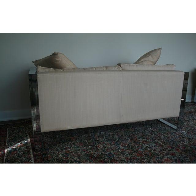 Milo Baughman Chrome Sofa and Loveseat - Image 9 of 11
