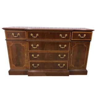 1980s Chippendale Councill Craftsmen Mahogany Server For Sale