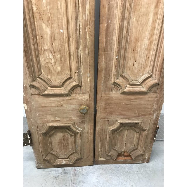 Traditional 19th Century Antique Victorian Pine Doors-a Pair For Sale - Image 3 of 13