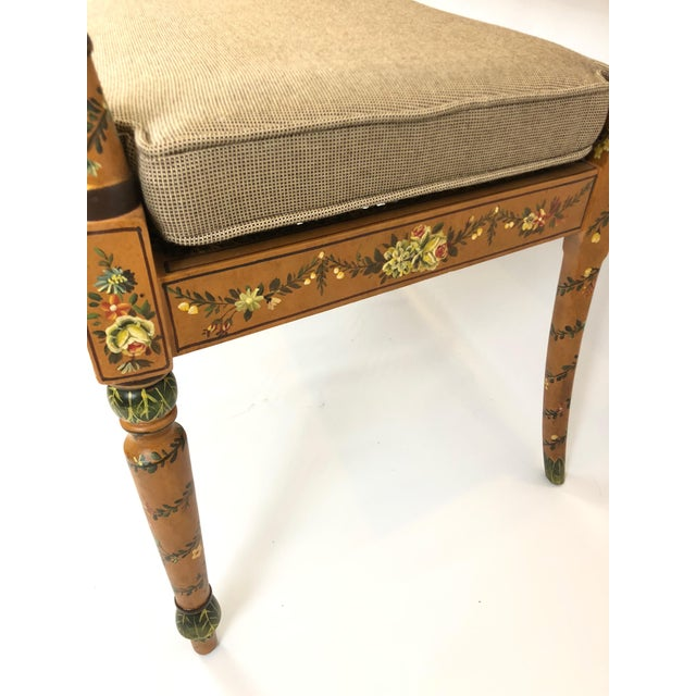 Venetian Style Caned and Hand Painted Loveseat Settee For Sale - Image 11 of 13