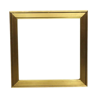 Recessed Brass Display Case With Bulletproof Glass For Sale
