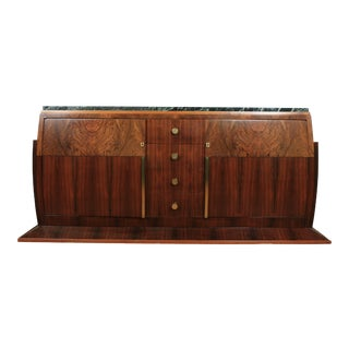 Art Deco Buffet Sideboard With Marble Top For Sale