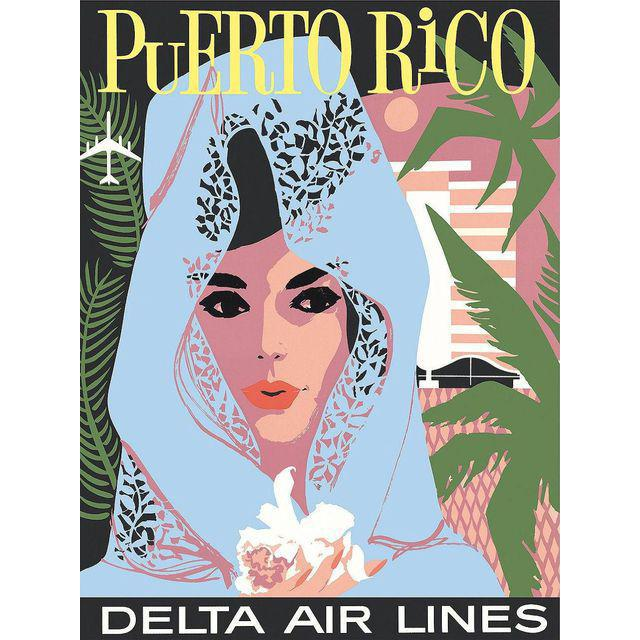Reproduction Puerto Rico Travel Poster - Image 2 of 2
