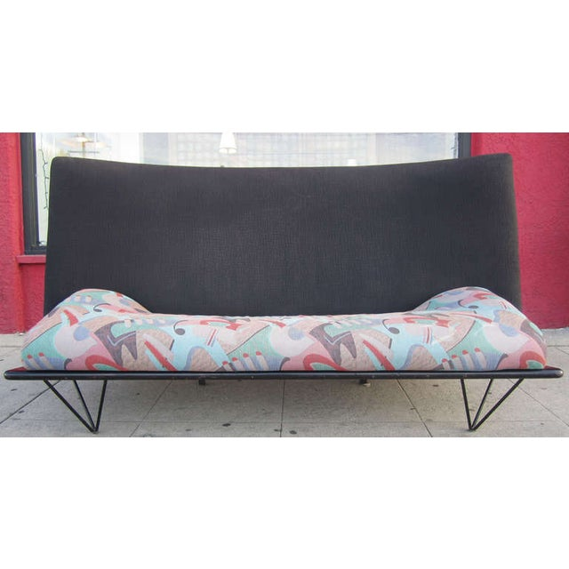 Sculptural, minimalist 80s sofa by famed Italian designer Paolo Deganello (b. 1940) and Driade. The sofa is discussed in...