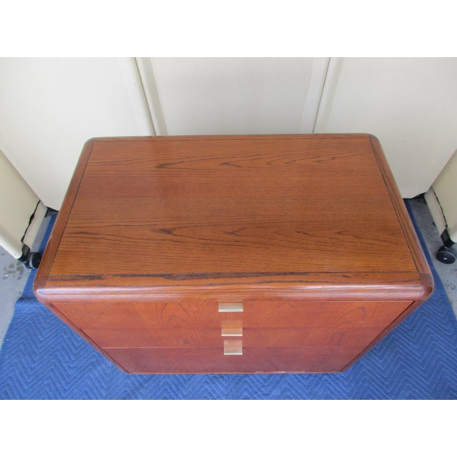 Mid-Century Modern 3-Drawer File or Storage Cabinet With Rounded Corners For Sale - Image 9 of 13
