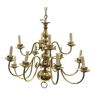 Vintage used miami chandeliers chairish vintage brass williamsburg chandelier mozeypictures Choice Image