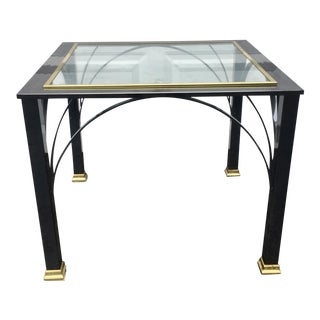 Modern Gunmetal Chrome End Table by Dia