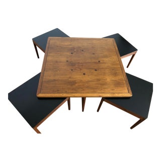 Drexel Declaration Walnut Coffee and Nesting Tables - Set of 5 For Sale