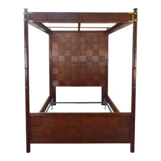 Henredon Pan Asian Queen Canopy Poster Bed For Sale