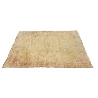 Early 20th Century Antique Amritsar Indian Rug - 9′8″ × 12′7″ For Sale